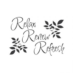relax, renew, refresh