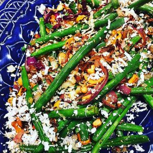 Coconut & Cashew Green Beans with Lime