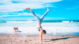 Handstand on the beach