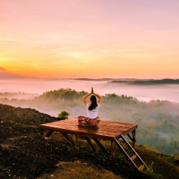 peaceful yoga setting